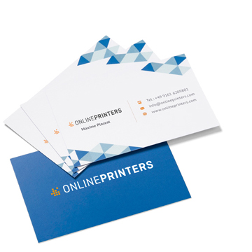 Image Equipped professionally with<br>classic business cards, 85 x 55 mm