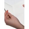Split backing on white adhesive paper