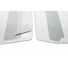 Compare: Self-adhesive (left image)  Wet seal (right image)