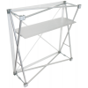 The metal frame system allows a quick and easy set-up and tear-down.