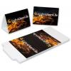 Counter top display, landscape format, die-cut, delivered flat