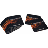 Square beer mat: 93 x 93 mm, with corner rounding (round format available as well)