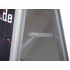 Due to an anti-glare protective film, the display stand is absolutely weather-resistant.