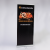 Double roller banner – double-sided advertisement using two banners (Ill. is similar)