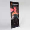 """X-Banner exclusive system, 500 g/m² PVC (fire resistance rating Â""""B1 (self-extinguishing)"""") for exchangeable graphics with a presentation area up to 140 x 250 cm."""