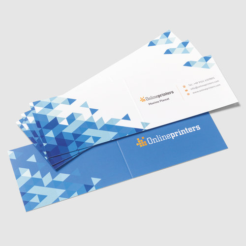 Folded business cards landscape 44 90x50mm printing ireland colourmoves