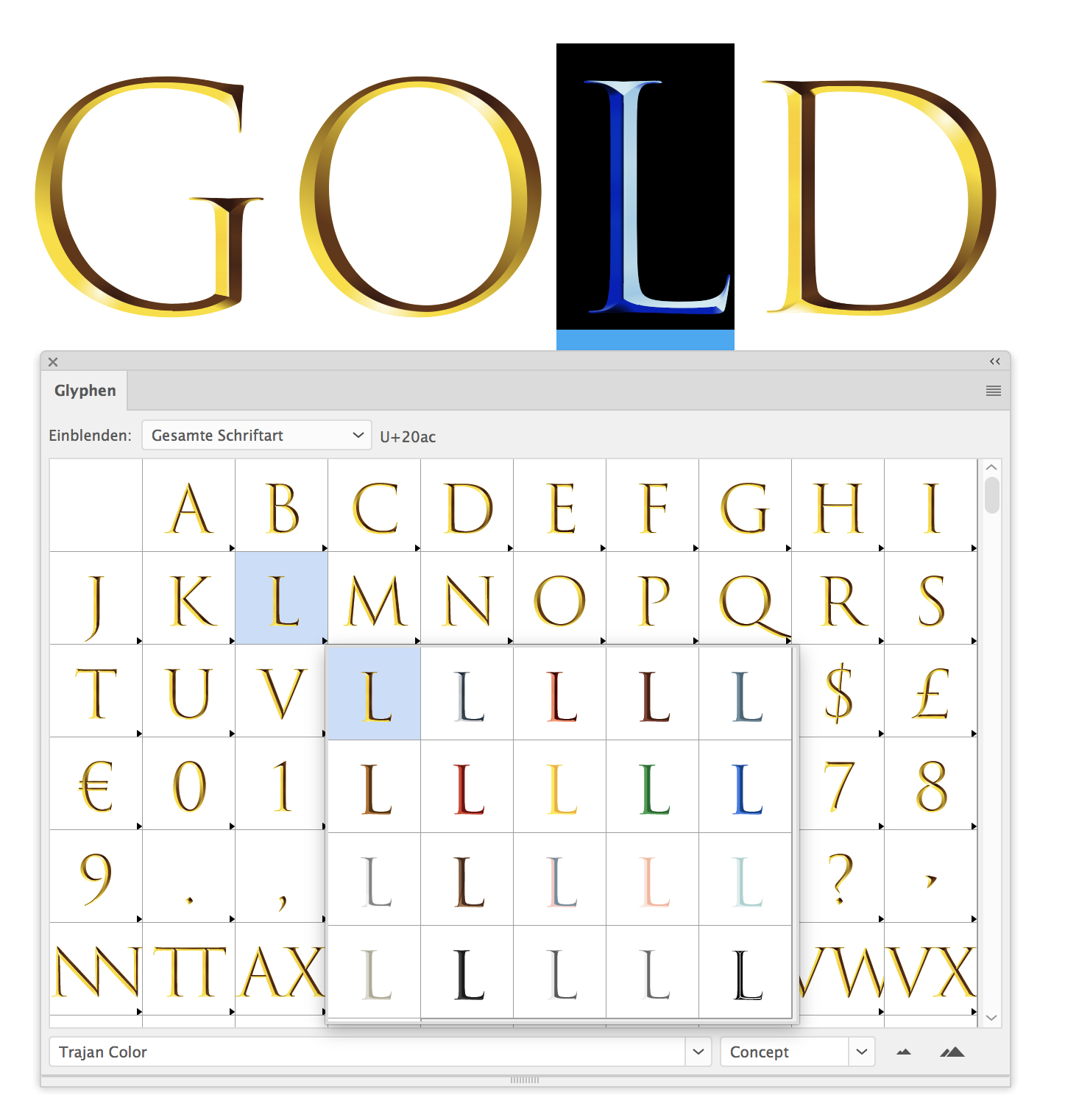 Colour fonts: How to use colour fonts